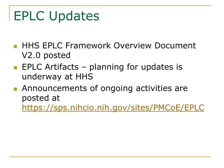 EPLC Updates