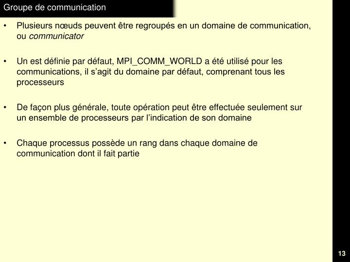 Groupe de communication