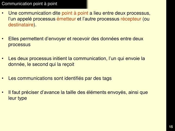 Communication point à point