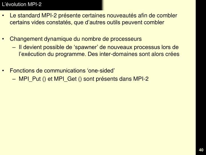 L'évolution MPI-2