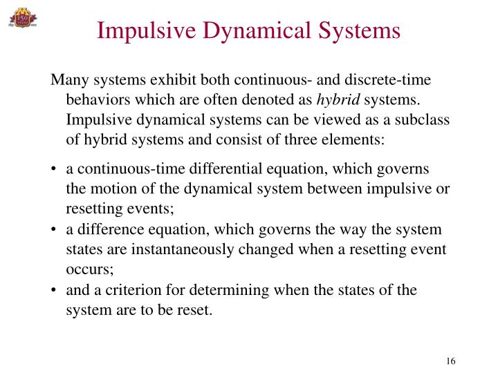 Impulsive Dynamical Systems