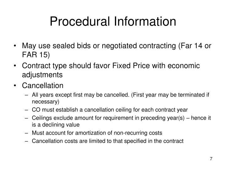 Procedural Information