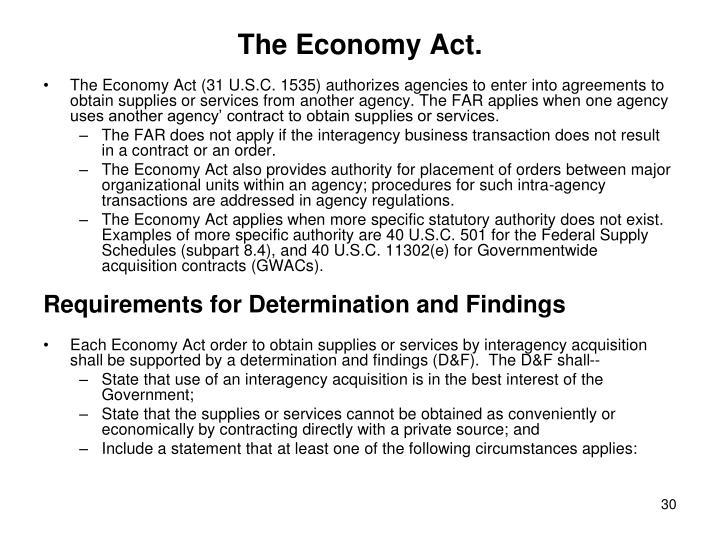 The Economy Act.