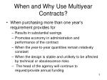 when and why use multiyear contracts