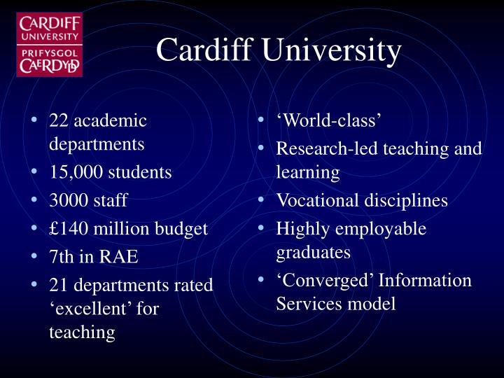 22 academic departments