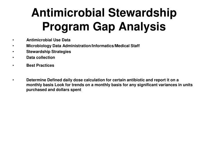 Antimicrobial Stewardship Program Gap Analysis