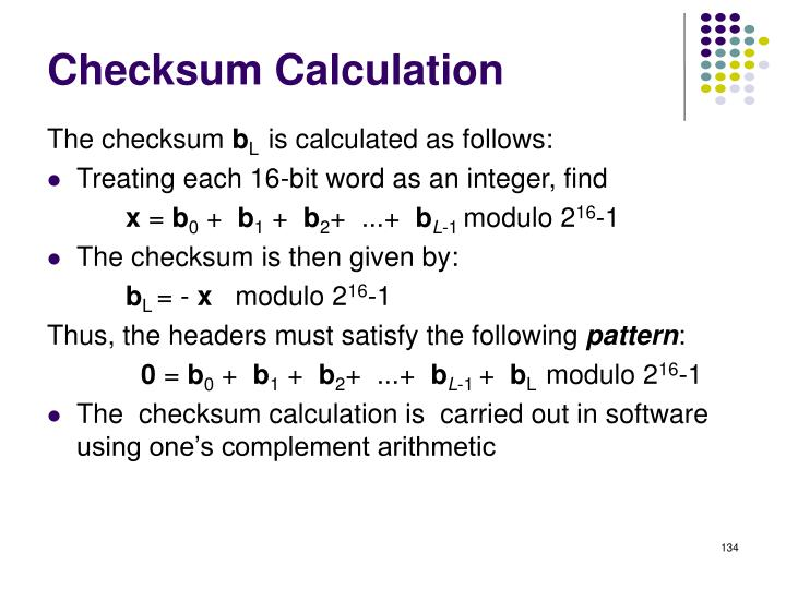Checksum Calculation