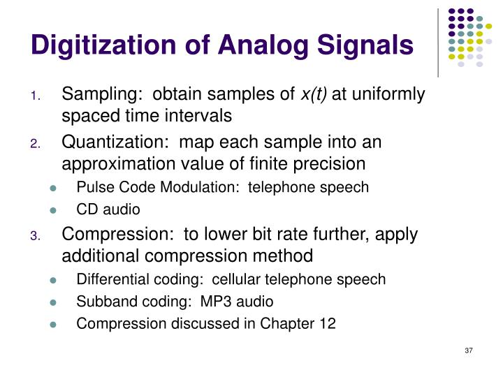 Digitization of Analog Signals