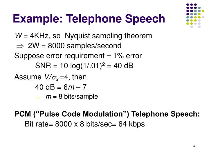 Example: Telephone Speech