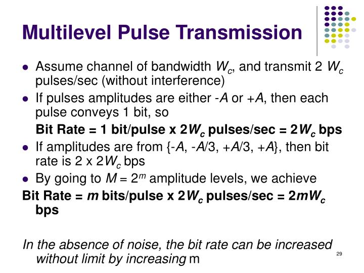 Multilevel Pulse Transmission