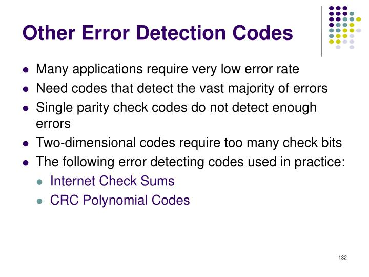 Other Error Detection Codes