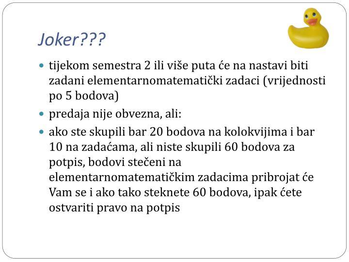 Joker???