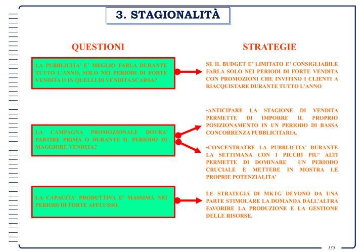 3. STAGIONALITÀ