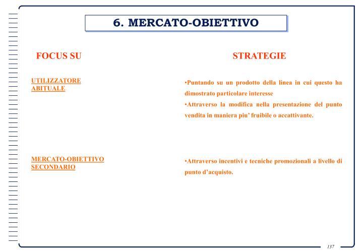 6. MERCATO-OBIETTIVO