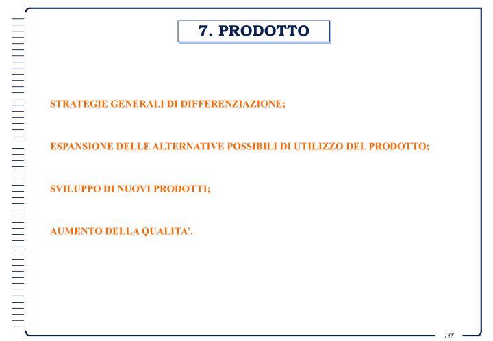 7. PRODOTTO