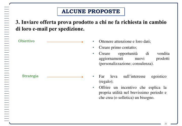 ALCUNE PROPOSTE