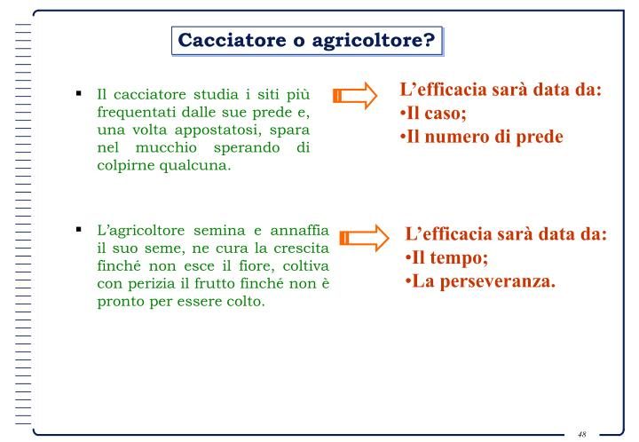 L'efficacia sarà data da: