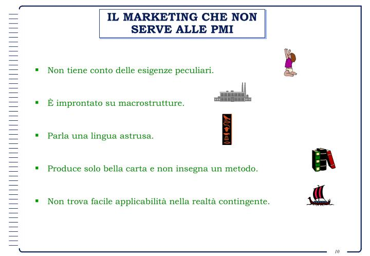 IL MARKETING CHE NON SERVE ALLE PMI