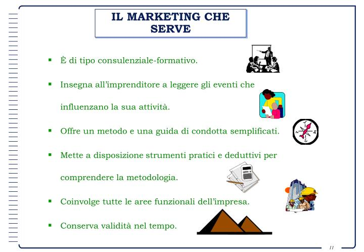 IL MARKETING CHE SERVE