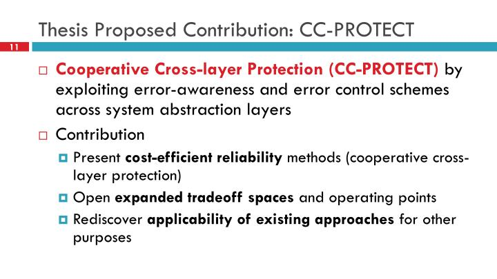 Thesis Proposed Contribution: CC-PROTECT