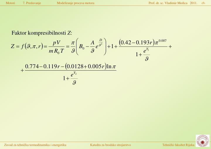 Faktor kompresibilnosti