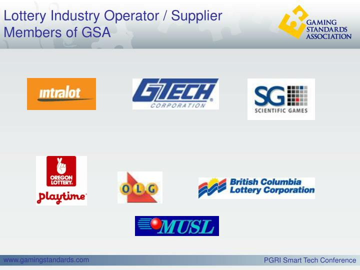 Lottery Industry Operator / Supplier