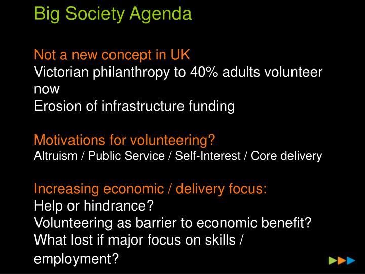 Big Society Agenda