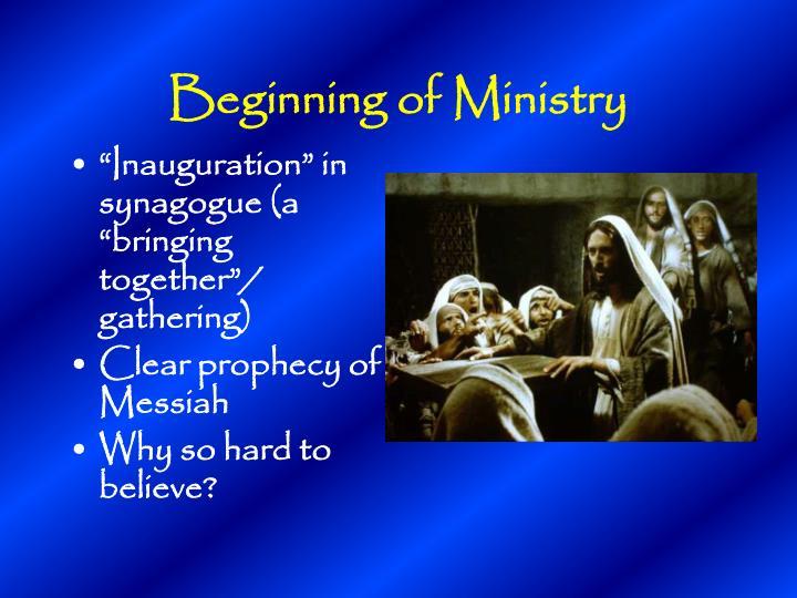 Beginning of Ministry