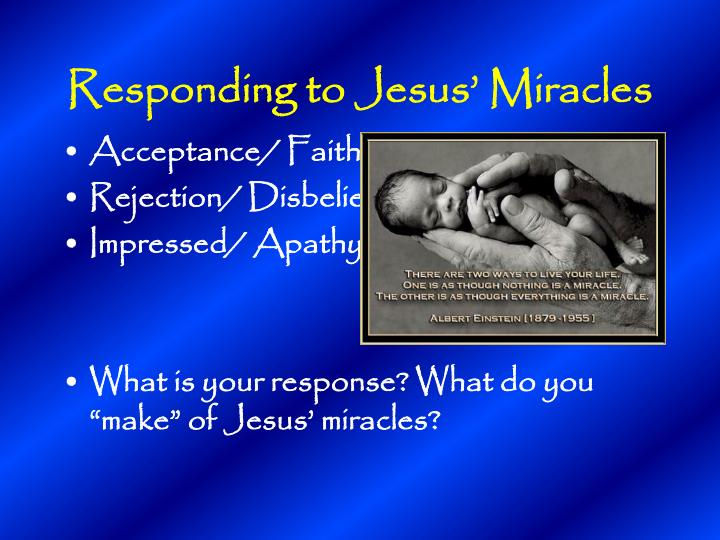 Responding to Jesus' Miracles