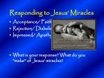 responding to jesus miracles