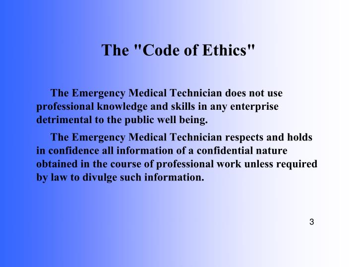 The code of ethics1