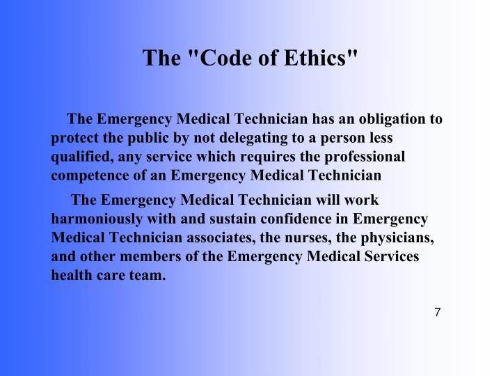 "The ""Code of Ethics"""