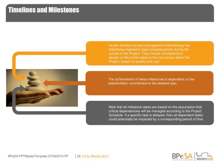 Timelines and Milestones