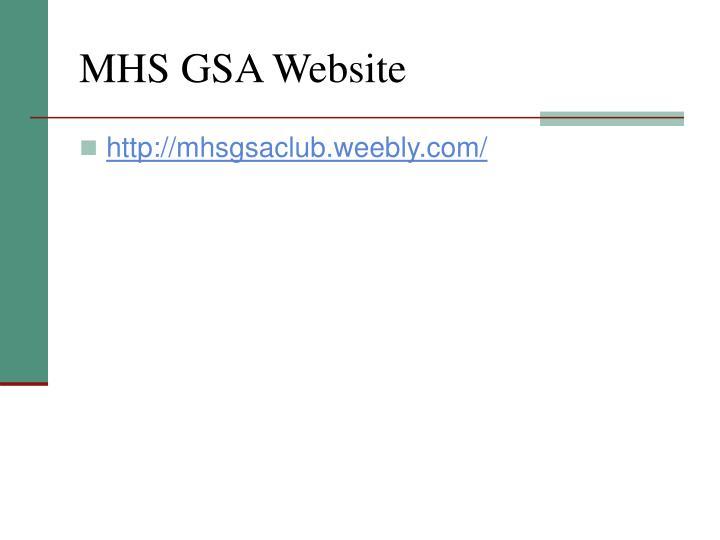 MHS GSA Website