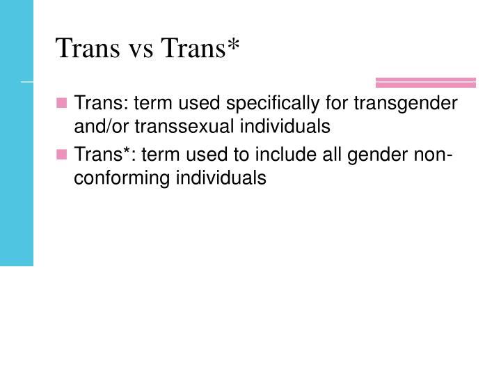Trans vs Trans*