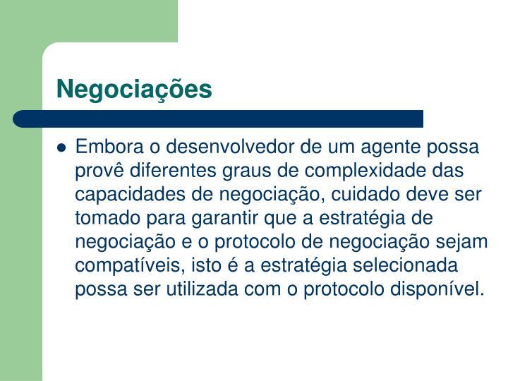 Negociações