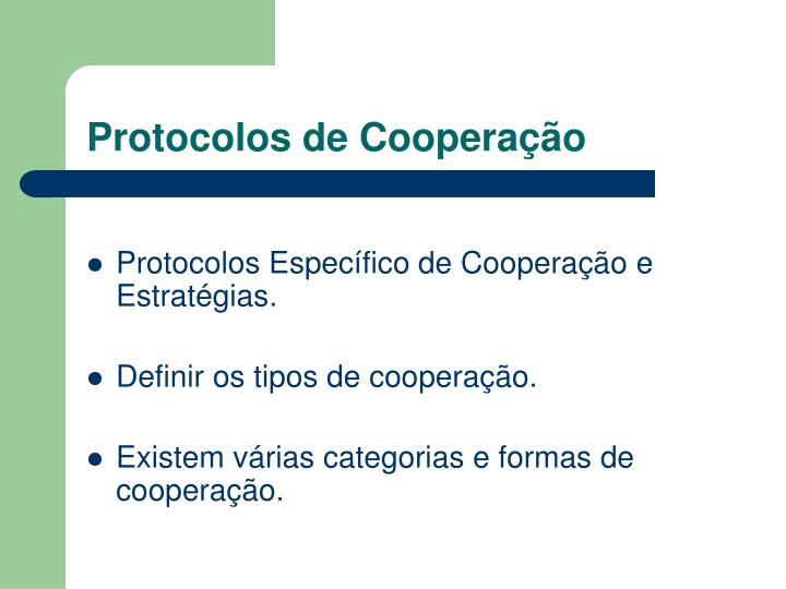 Protocolos de Cooperação