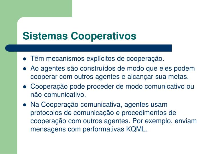 Sistemas Cooperativos