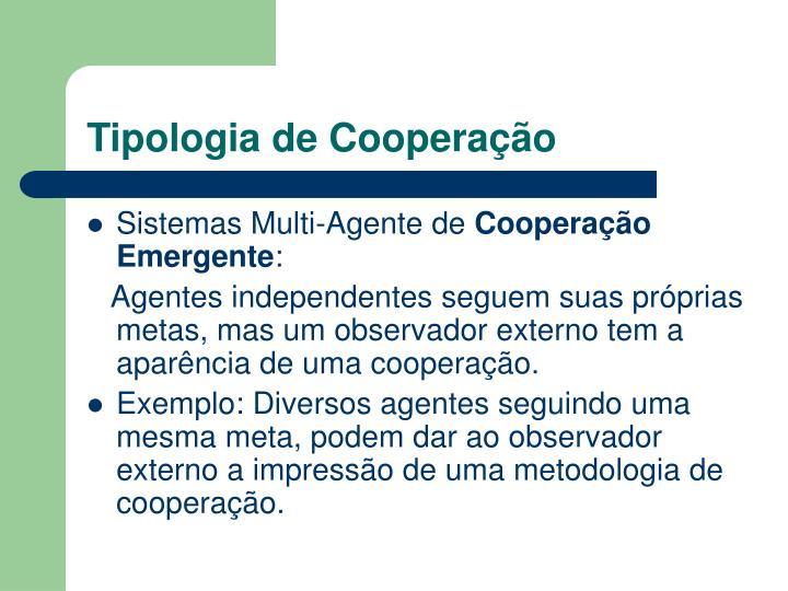 Tipologia de Cooperação