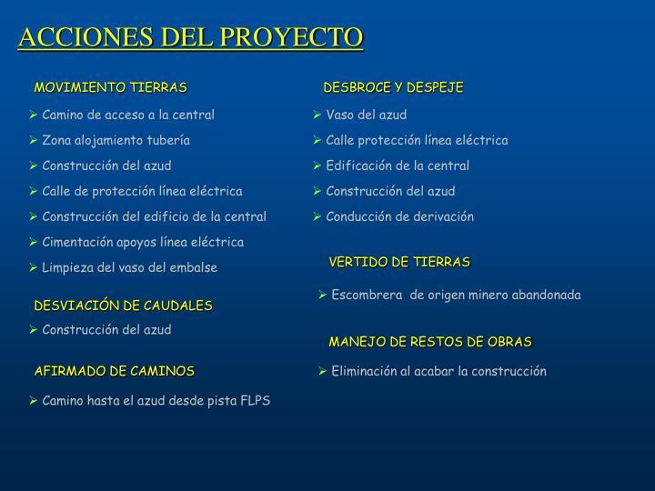 ACCIONES DEL PROYECTO