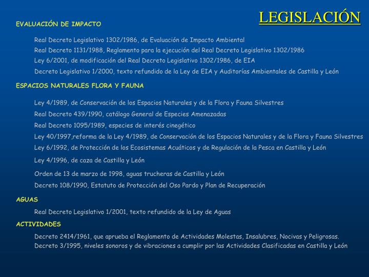 Real Decreto Legislativo 1302/1986, de Evaluación de Impacto Ambiental