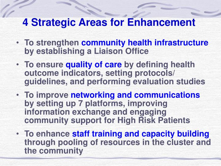 4 Strategic Areas for Enhancement