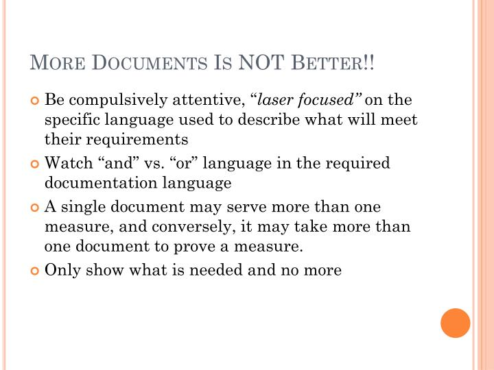 More Documents Is NOT Better!!