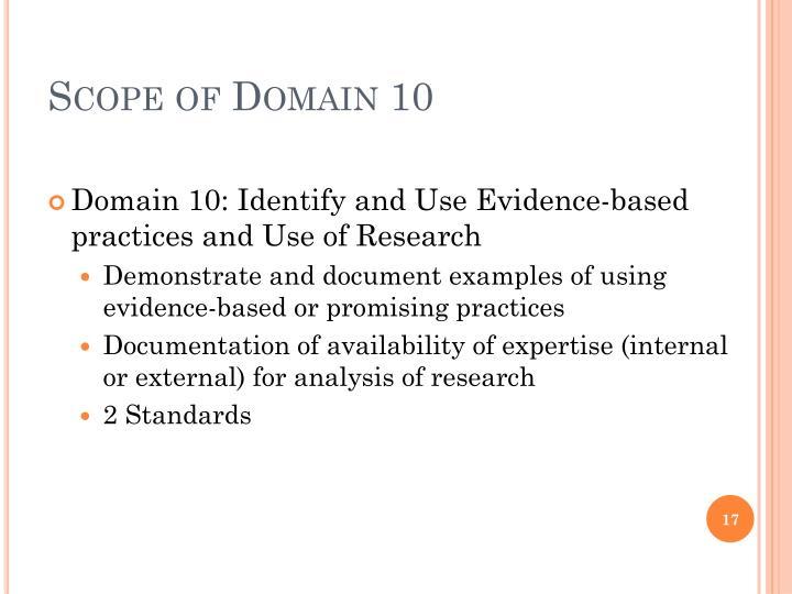 Scope of Domain 10