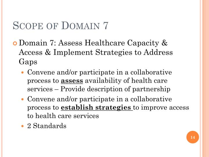 Scope of Domain 7