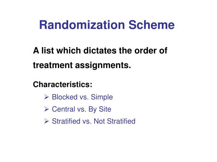 Randomization Scheme