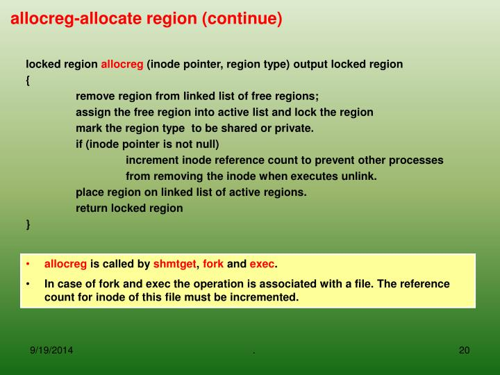 locked region