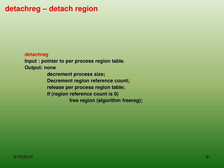detachreg – detach region