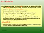 exit system call