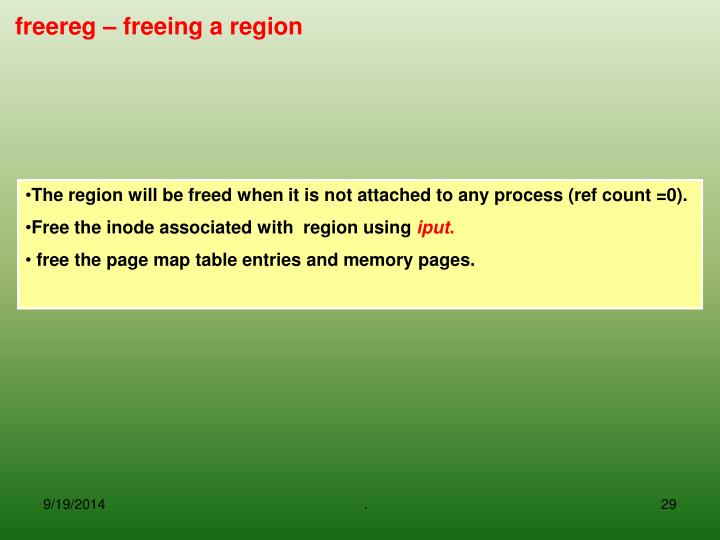 freereg – freeing a region